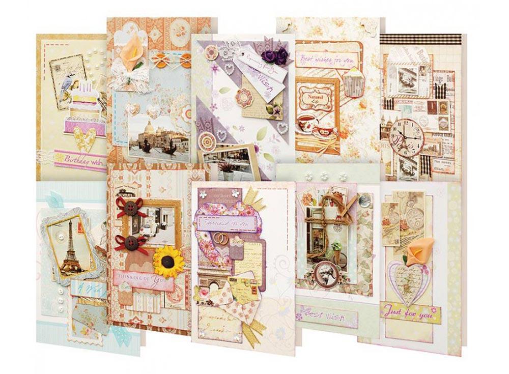 Набор из 10-ти открыток «Вернисаж»Наборы для создания открыток<br><br><br>Артикул: 253-SB<br>Размер: 11,5x17 см