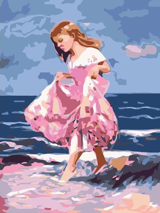 «Идущая по волнам»Картины по номерам Белоснежка<br><br><br>Артикул: 256-CE<br>Основа: Холст<br>Сложность: легкие<br>Размер: 30x40 см<br>Количество цветов: 17<br>Техника рисования: Без смешивания красок