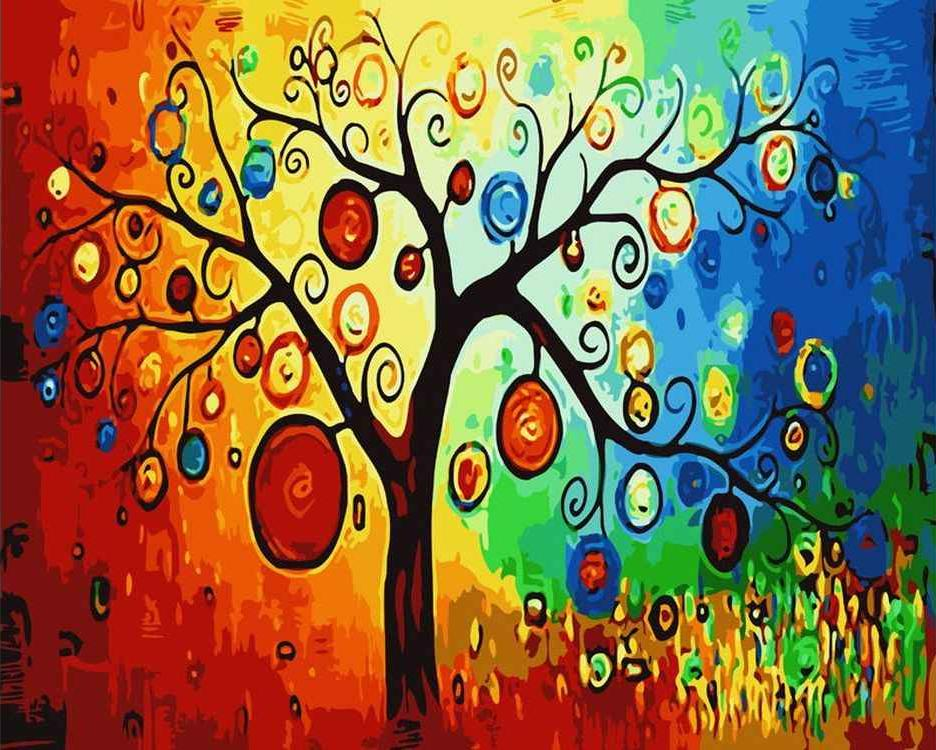Картина по номерам «Древо желаний»Картины по номерам Белоснежка<br><br><br>Артикул: 345-CG<br>Основа: Холст<br>Сложность: средние<br>Размер: 40x50 см<br>Количество цветов: 24<br>Техника рисования: Без смешивания красок