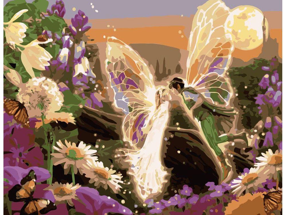 «Сказочный поцелуй»Картины по номерам Белоснежка<br><br><br>Артикул: 356-CG<br>Основа: Холст<br>Сложность: средние<br>Размер: 40x50<br>Количество цветов: 23<br>Техника рисования: Без смешивания красок