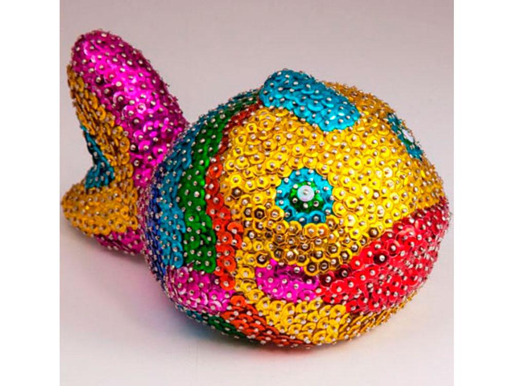 Россия Объемная фигурка из пайеток «Рыбка» 3D-04