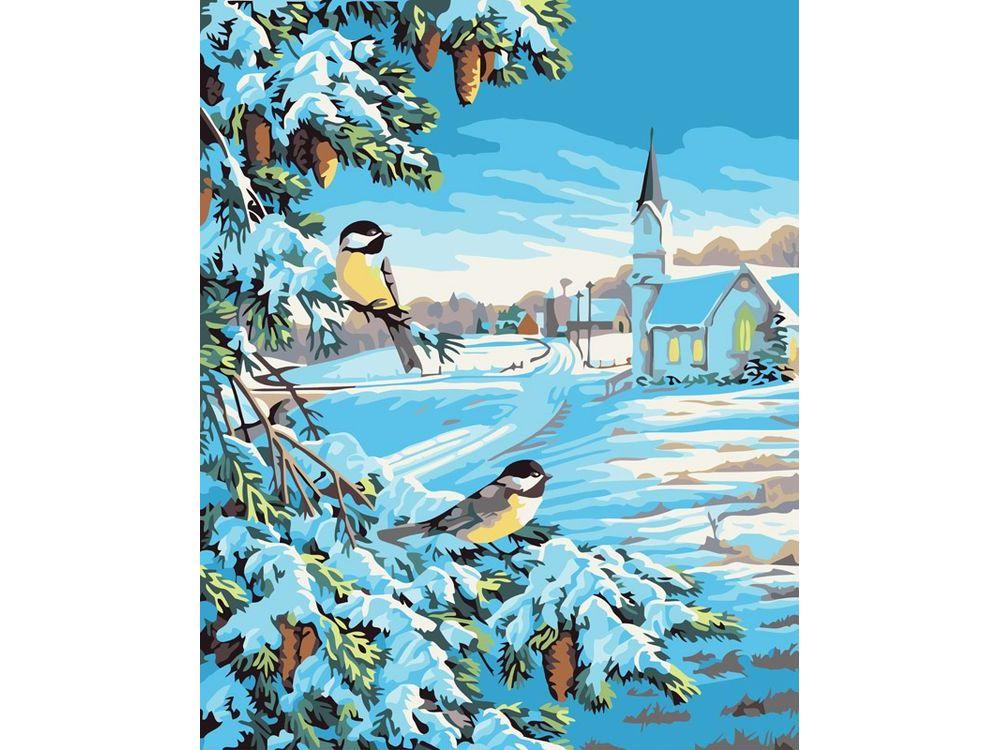 «Снежная зима»Картины по номерам Белоснежка<br><br><br>Артикул: 520-CG<br>Основа: Холст<br>Сложность: средние<br>Размер: 40x50<br>Количество цветов: 18<br>Техника рисования: Без смешивания красок