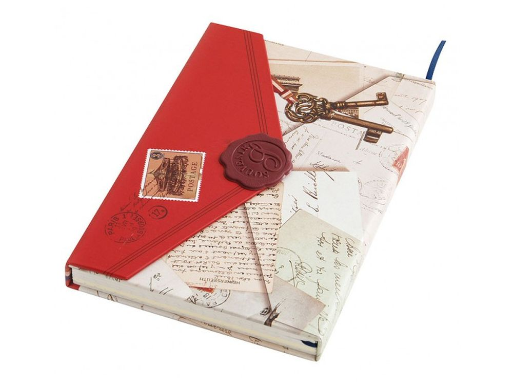 Дневник для записей «Мемуары»Записные книжки и ежедневники<br>Количество листов: 96<br>Размер 10,5х15,2х1,8 см<br><br>Блокнот-дневник с однотонными листами выполнен в виде ретро-конверта. Застегивается на магнитную застежку, предусмотрена закладка для удобства владельца сразу находить необходимую страницу.<br>Плотная стильн...<br><br>Артикул: 662-SB<br>Размер: 10,5x15,2x1,8 см