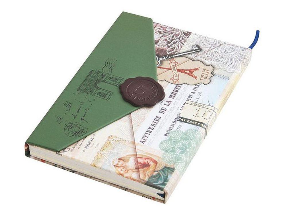 Личный дневник для записей «Мистика»Записные книжки и ежедневники<br>Количество листов: 96<br>Размер 10,5х15,2х1,8 см<br><br>Блокнот-дневник с однотонными листами выполнен в виде ретро-конверта. Застегивается на магнитную застежку, предусмотрена закладка для удобства владельца сразу находить необходимую страницу.<br>Плотная стильн...<br><br>Артикул: 665-SB<br>Размер: 10,5x15,2x1,8 см
