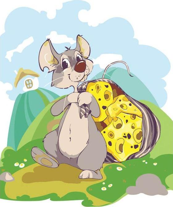 «Мышка с сыром» Анастасии БойкоКартины по номерам Белоснежка<br><br><br>Артикул: 721-AS<br>Основа: Холст<br>Сложность: легкие<br>Размер: 30x40 см<br>Количество цветов: 22<br>Техника рисования: Без смешивания красок