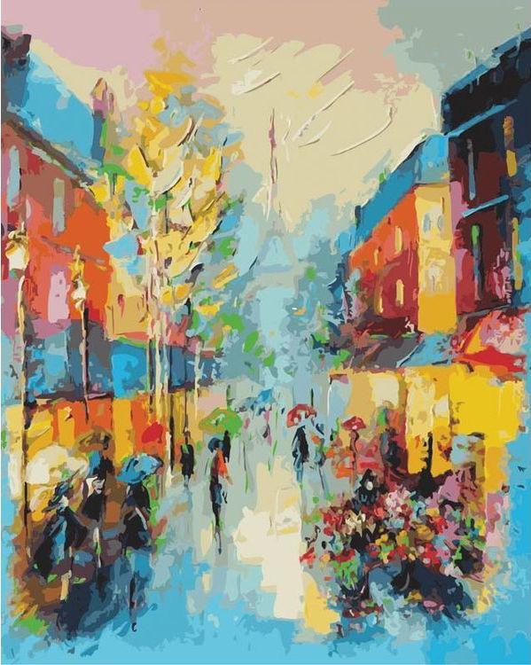 «Улочки Парижа» Лианы МоисеевойКартины по номерам Белоснежка<br><br><br>Артикул: 820-AB<br>Основа: Холст<br>Сложность: очень сложные<br>Размер: 40x50 см<br>Количество цветов: 36<br>Техника рисования: Без смешивания красок