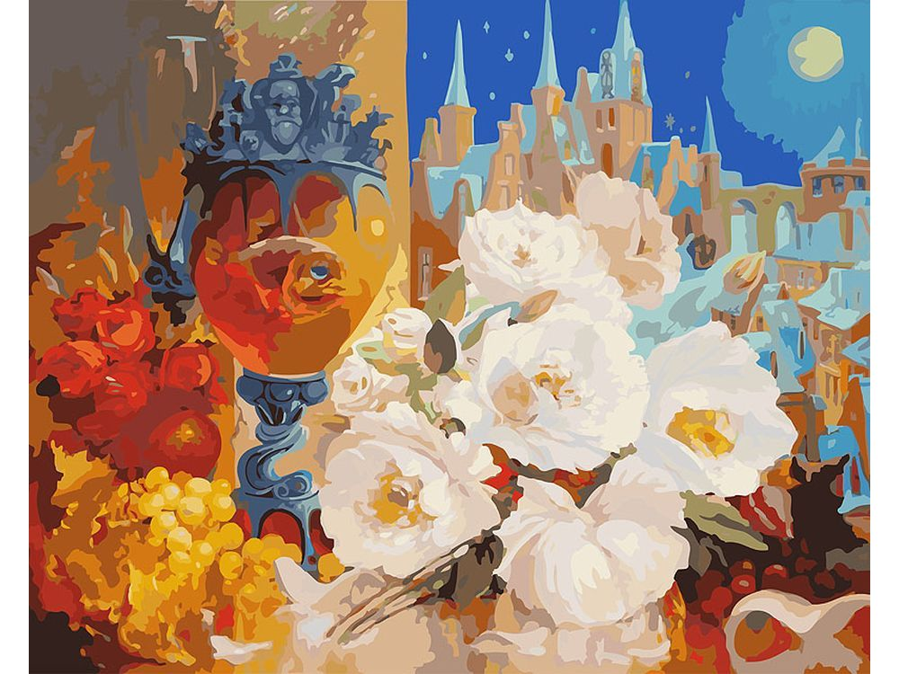 «Тихая ночь» Антона ГорцевичаКартины по номерам Белоснежка<br><br><br>Артикул: 902-AB<br>Основа: Холст<br>Сложность: очень сложные<br>Размер: 40x50<br>Количество цветов: 41<br>Техника рисования: Без смешивания красок