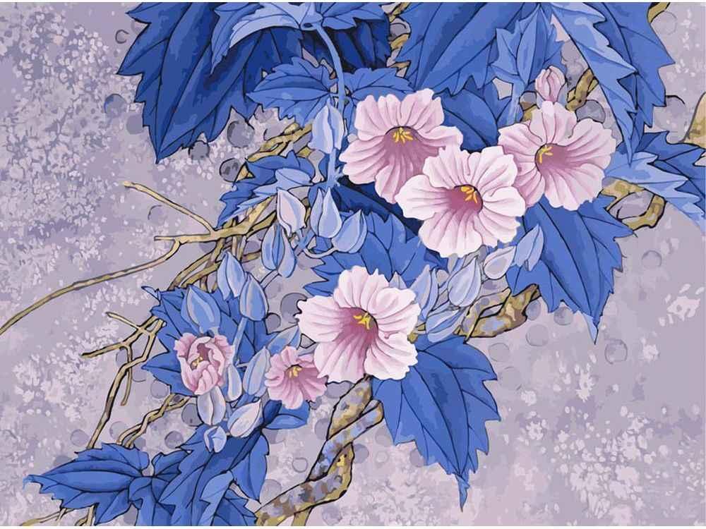 «Цветущая ветвь» Чжин ХонгджунКартины по номерам Белоснежка<br><br><br>Артикул: 905-AB<br>Основа: Холст<br>Сложность: очень сложные<br>Размер: 40x50<br>Количество цветов: 40<br>Техника рисования: Без смешивания красок