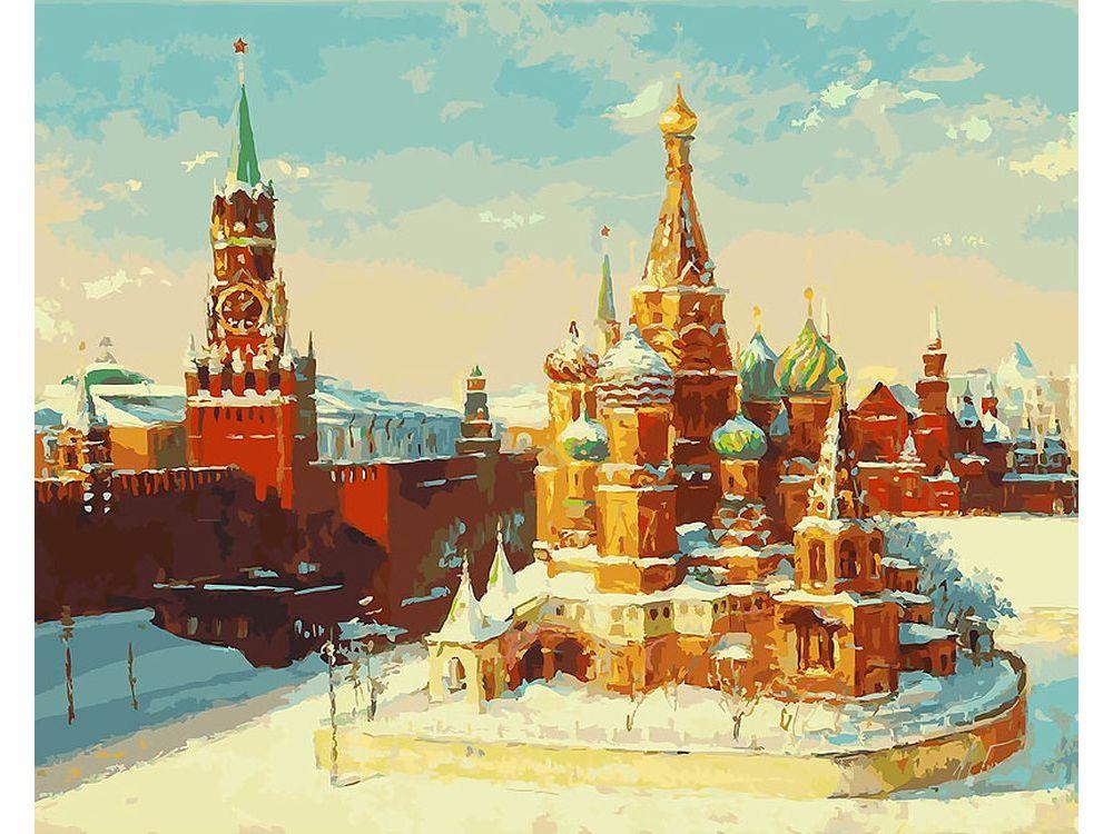 Картина по номерам «Кремль зимой» Михаила БровкинаКартины по номерам Белоснежка<br><br><br>Артикул: 919-AB<br>Основа: Холст<br>Сложность: очень сложные<br>Размер: 40x50 см<br>Количество цветов: 40<br>Техника рисования: Без смешивания красок