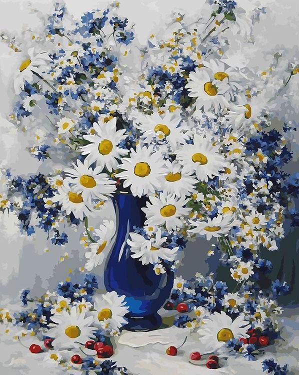 Картина по номерам «Любимые цветы» Николая и Семена Захаровых