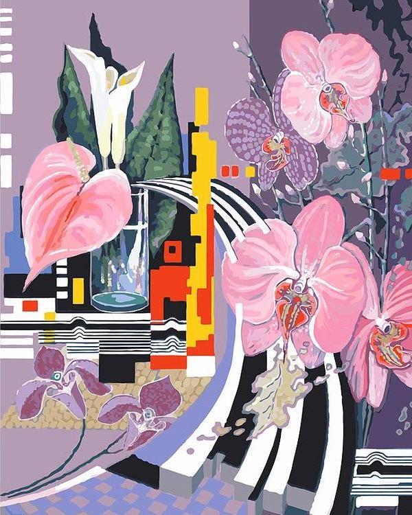 «Композиция с орхидеями»Картины по номерам Белоснежка<br><br><br>Артикул: 927-ab<br>Основа: Холст<br>Сложность: очень сложные<br>Размер: 40x50 см<br>Количество цветов: 40<br>Техника рисования: Без смешивания красок