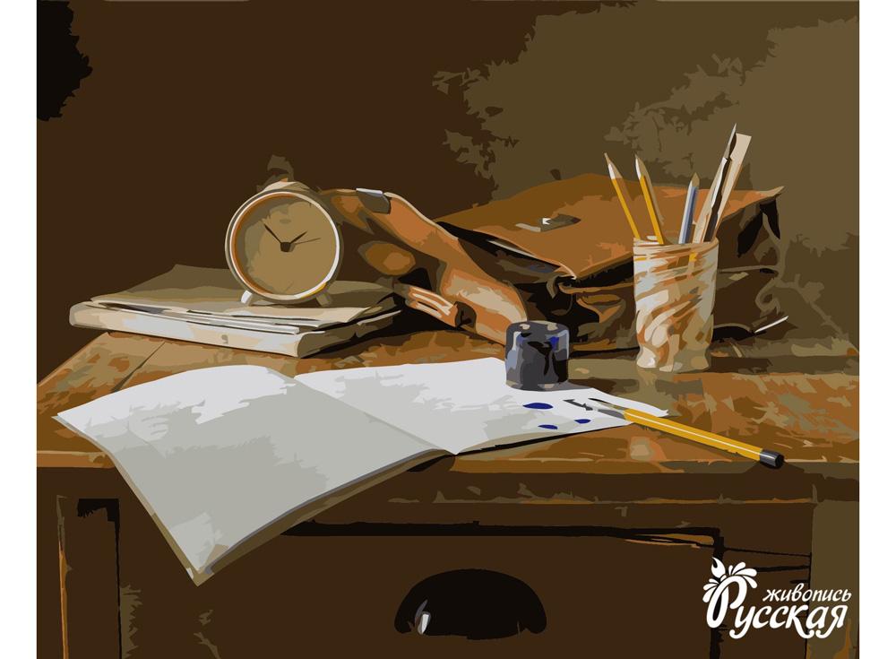 «Домашнее задание»Картины по номерам «Русская живопись»<br><br><br>Артикул: B007RG<br>Основа: Холст<br>Сложность: сложные<br>Размер: 40x50 см<br>Количество цветов: 30<br>Техника рисования: Без смешивания красок