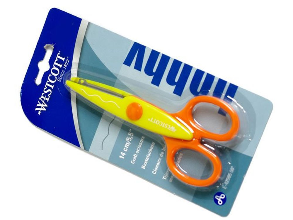 Ножницы фигурные «Волна»Инструменты для скрапбукинга<br>Ножницы с фигурным краем (волна) для оригинального оформления любых Ваших работ из бумаги - декорирования краев открыток, альбомов, конвертов. Острая режущая кромка отлично справляется и с картоном, и с тонкой бумагой. То есть, с помощью этих ножниц можно...<br><br>Артикул: E-42505<br>Размер: 14 см
