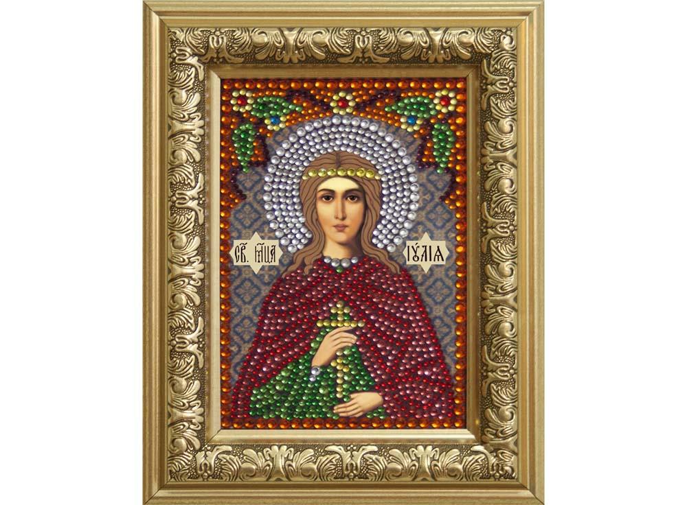 Алмазная вышивка Преобрана Термостразы «Святая мученица Иулия (Юлия)» P0309