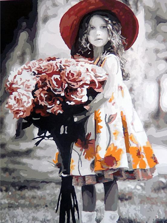 Картина по номерам «Поздравляю» Ким АндерсонРаскраски по номерам Color Kit<br><br><br>Артикул: CG711<br>Основа: Холст<br>Сложность: средние<br>Размер: 40x50 см<br>Количество цветов: 25<br>Техника рисования: Без смешивания красок