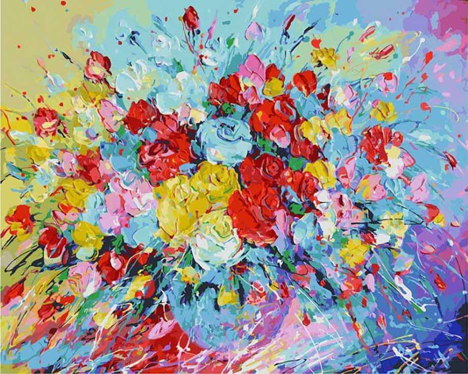 Картина по номерам «Фейерверк из роз» Лианы МоисеевойКартины по номерам Белоснежка<br><br><br>Артикул: 001-AB<br>Основа: Холст<br>Сложность: очень сложные<br>Размер: 40x50 см<br>Количество цветов: 39<br>Техника рисования: Без смешивания красок