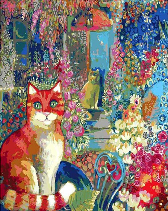 Картина по номерам «Кот»Раскраски по номерам Color Kit<br><br><br>Артикул: CG809<br>Основа: Холст<br>Сложность: средние<br>Размер: 40x50 см<br>Количество цветов: 21<br>Техника рисования: Без смешивания красок