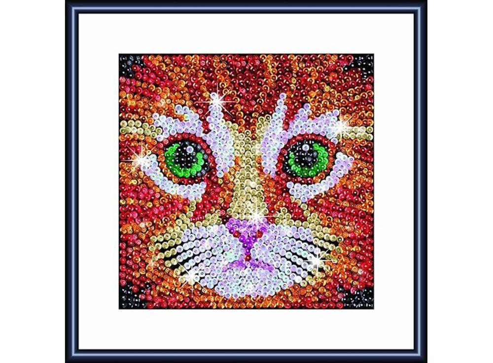 Мозаика из пайеток «Котенок»