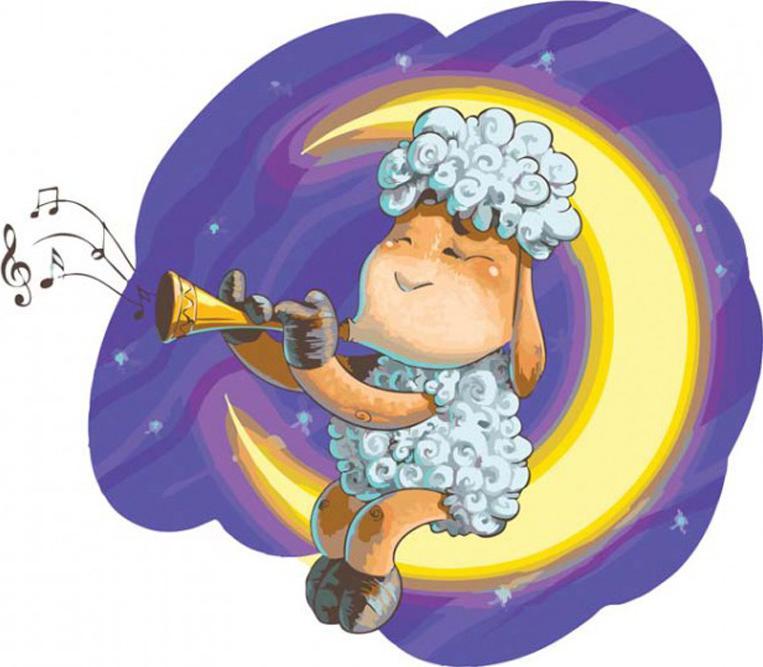 «Овечка на Луне» Сергея ПалияКартины по номерам Белоснежка<br><br><br>Артикул: 740-AS<br>Основа: Холст<br>Сложность: очень сложные<br>Размер: 30x40 см<br>Количество цветов: 31<br>Техника рисования: Без смешивания красок