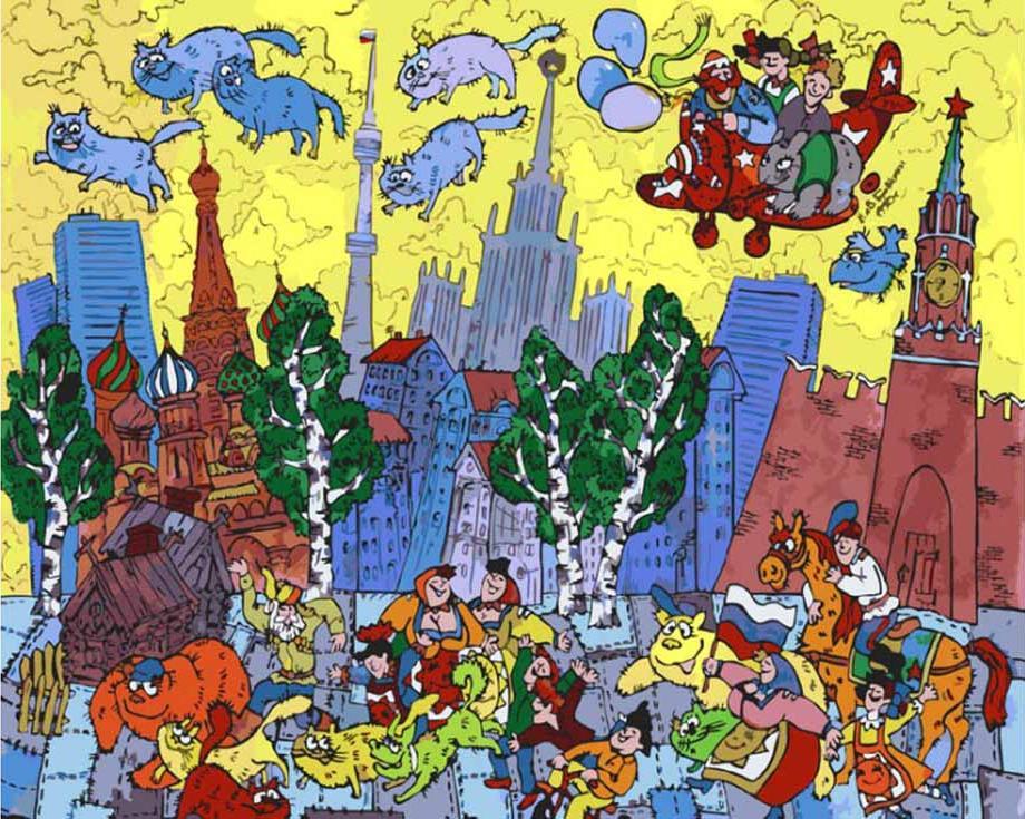 «Московский вечер» Михаила БровкинаКартины по номерам Белоснежка<br><br><br>Артикул: 931-AB<br>Основа: Холст<br>Сложность: очень сложные<br>Размер: 40x50 см<br>Количество цветов: 38<br>Техника рисования: Без смешивания красок