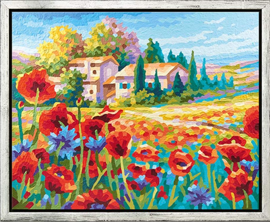 """Картина по номерам «Маковое поле»Schipper (Шиппер)<br>Производитель наборов картин по номерам """"Schipper"""" - это исключительное качество всех составляющих. Особенностью этого бренда является то, что основа картины - высококачественный картон, покрытие которого имитирует натуральный холст. Краски """"Schipper"""" обл...<br><br>Артикул: 9430727<br>Основа: Картон<br>Сложность: сложные<br>Размер: 40x50 см<br>Количество цветов: 36<br>Техника рисования: Без смешивания красок"""