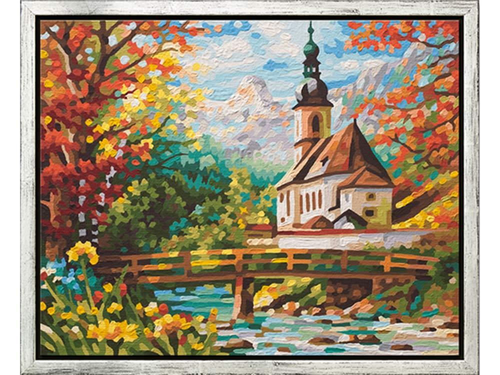 """«Церковь св. Себастьяна в Рамзау»Schipper (Шиппер)<br>Производитель наборов картин по номерам """"Schipper"""" - это исключительное качество всех составляющих. Особенностью этого бренда является то, что основа картины - высококачественный картон, покрытие которого имитирует натуральный холст. Краски """"Schipper"""" обл...<br><br>Артикул: 9430729<br>Основа: Картон<br>Сложность: сложные<br>Размер: 40x50 см<br>Количество цветов: 36<br>Техника рисования: Без смешивания красок"""