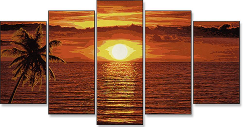 """Картина по номерам «Закат на Карибах»Schipper (Шиппер)<br>Производитель наборов картин по номерам """"Schipper"""" - это исключительное качество всех составляющих. Особенностью этого бренда является то, что основа картины - высококачественный картон, покрытие которого имитирует натуральный холст. Краски """"Schipper"""" обл...<br><br>Артикул: 9450728<br>Основа: Картон<br>Сложность: сложные<br>Размер: 132x72 см<br>Количество цветов: 36<br>Техника рисования: Без смешивания красок"""