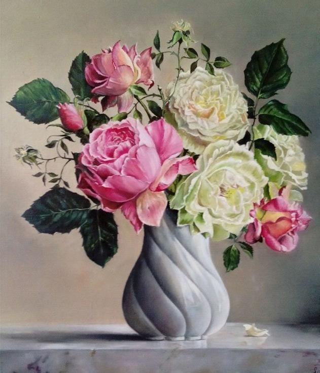 Алмазная вышивка «Розы» Елены ШлосбергАлмазная вышивка Гранни<br><br><br>Артикул: AG534<br>Основа: Холст без подрамника<br>Сложность: средние<br>Размер: 38x48 см<br>Выкладка: Полная<br>Количество цветов: 44<br>Тип страз: Квадратные