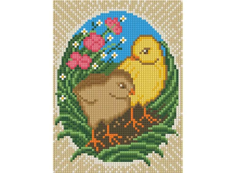 Алмазная вышивка Алмазная живопись Стразы «Пасхальные цыплята» АЖ-1320