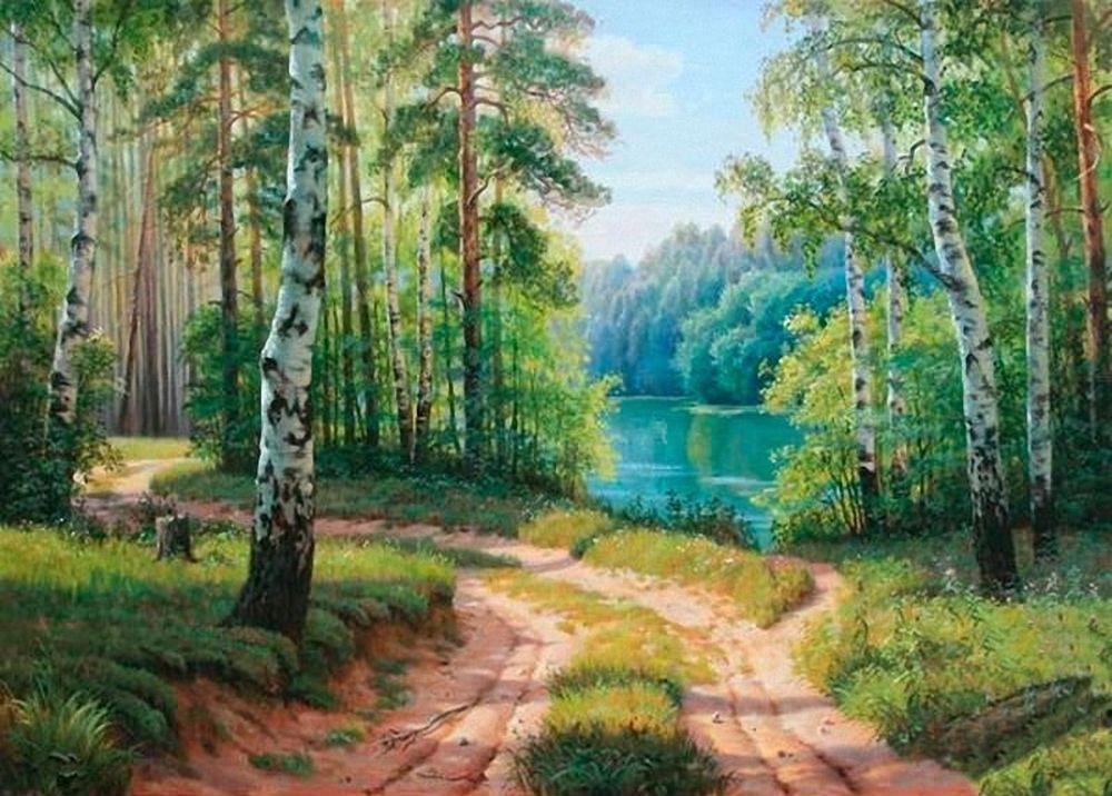 Алмазная вышивка «Лесное озеро» Виталия ПотаповаАлмазная вышивка<br>Для любителей живописных пейзажей алмазная вышивка «Лесное озера» станет очень ценным приобретением. Слегка размытые контуры и приглушенные цвета создают некую загадку. На эту картину хочется смотреть и вдохновляться. Работа обязательно займет достойное м...<br>