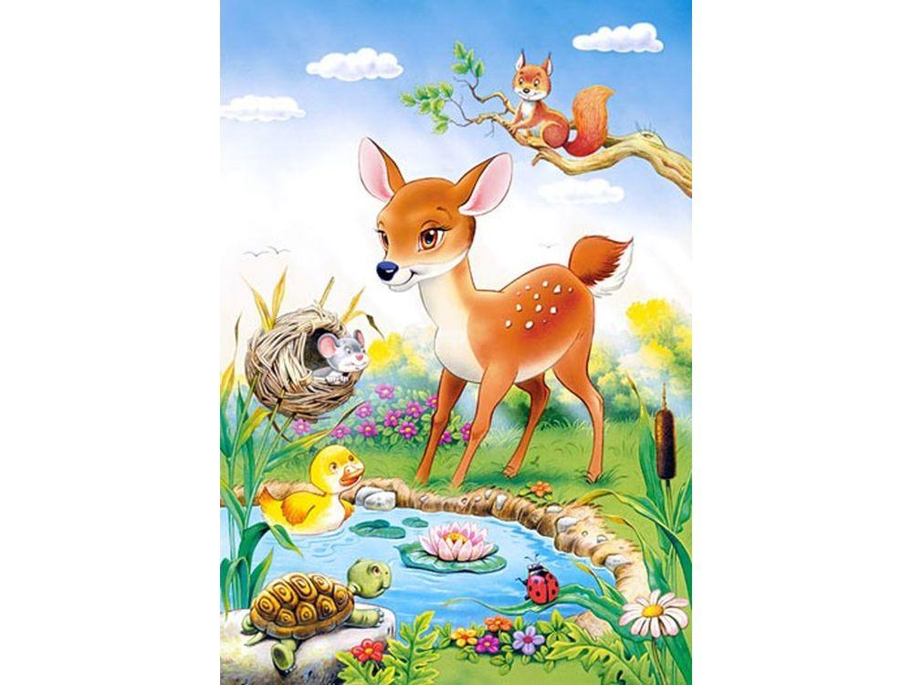 Пазлы «Бэмби»Пазлы от производителя Castorland<br>Пазл - игра-головоломка, мозаика, состоящая из множества фрагментов, различающихся по форме.<br> По мнению психологов, игра в пазлы способствует развитию логического мышления, внимания, воображения и памяти. Пазлы хороши для всех возрастов - и ребенка-дошко...<br><br>Артикул: B26524<br>Размер: 32x23 см