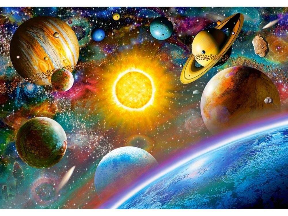 Пазлы «Открытый космос»Пазлы от производителя Castorland<br>Пазл - игра-головоломка, мозаика, состоящая из множества фрагментов, различающихся по форме.<br> По мнению психологов, игра в пазлы способствует развитию логического мышления, внимания, воображения и памяти. Пазлы хороши для всех возрастов - и ребенка-дошко...<br><br>Артикул: B52158<br>Размер: 47x33 см
