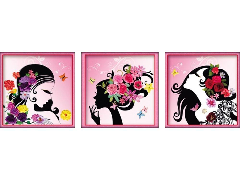 """Вышивка лентами «Девушка в абстракции»Цветной<br>Уникальный набор вышивки лентами от производителя """"Цветной"""" - прекрасная возможность освоить новый вид творчества.<br><br>Вышивка лентами набирает популярность благодаря великолепному результату, объемные картины из атласных лент и органзы может вышить каждый, ...<br><br>Артикул: C-0089<br>Сложность: средние<br>Размер: 50x150 см<br>Техника вышивки: ленты<br>Заполнение: Частичное<br>Техника: Вышивка лентами"""