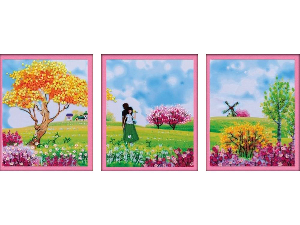 """Вышивка лентами «Бескрайние просторы»Цветной<br>Уникальный набор вышивки лентами от производителя """"Цветной"""" - прекрасная возможность освоить новый вид творчества.<br><br>Вышивка лентами набирает популярность благодаря великолепному результату, объемные картины из атласных лент и органзы может вышить каждый, ...<br><br>Артикул: C-0090<br>Сложность: средние<br>Размер: 38x144 см<br>Техника вышивки: ленты<br>Заполнение: Частичное<br>Техника: Вышивка лентами"""