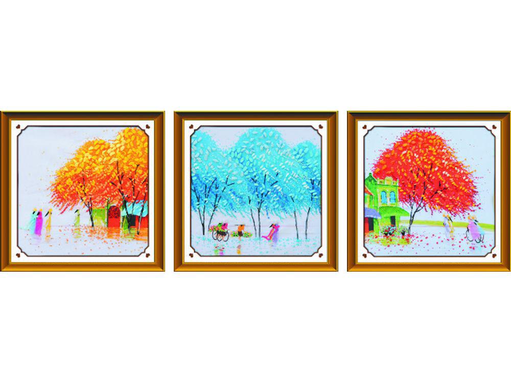 """Вышивка лентами «Разноцветные дни»Цветной<br>Уникальный набор вышивки лентами от производителя """"Цветной"""" - прекрасная возможность освоить новый вид творчества.<br><br>Вышивка лентами набирает популярность благодаря великолепному результату, объемные картины из атласных лент и органзы может вышить каждый, ...<br><br>Артикул: C-0108<br>Сложность: средние<br>Размер: 50x150 см<br>Техника вышивки: ленты<br>Заполнение: Частичное<br>Техника: Вышивка лентами"""