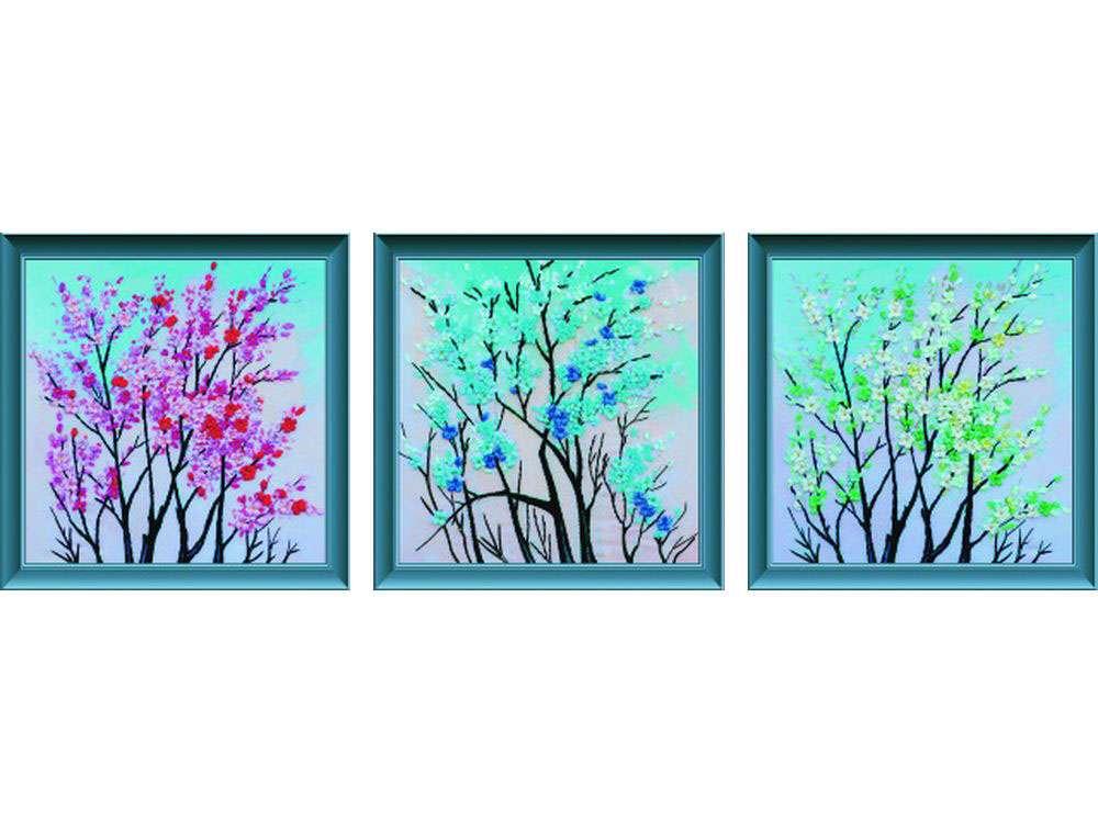 """Вышивка лентами «Пора цветения»Цветной<br>Уникальный набор вышивки лентами от производителя """"Цветной"""" - прекрасная возможность освоить новый вид творчества.<br><br>Вышивка лентами набирает популярность благодаря великолепному результату, объемные картины из атласных лент и органзы может вышить каждый, ...<br><br>Артикул: C-0116<br>Сложность: средние<br>Размер: 50x150 см<br>Техника вышивки: ленты<br>Заполнение: Частичное<br>Техника: Вышивка лентами"""