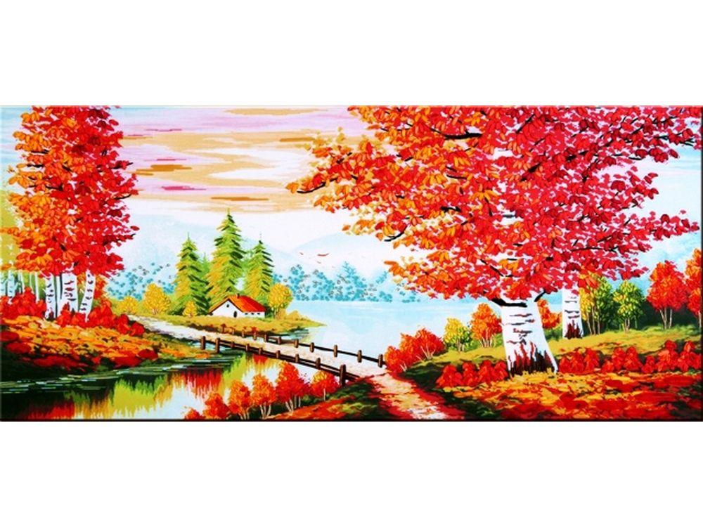 """Вышивка лентами «В багрец одетые»Цветной<br>Уникальный набор вышивки лентами от производителя """"Цветной"""" - прекрасная возможность освоить новый вид творчества.<br><br>Вышивка лентами набирает популярность благодаря великолепному результату, объемные картины из атласных лент и органзы может вышить каждый, ...<br><br>Артикул: C-0142<br>Сложность: средние<br>Размер: 73x135 см<br>Техника вышивки: ленты<br>Заполнение: Частичное<br>Техника: Вышивка лентами"""