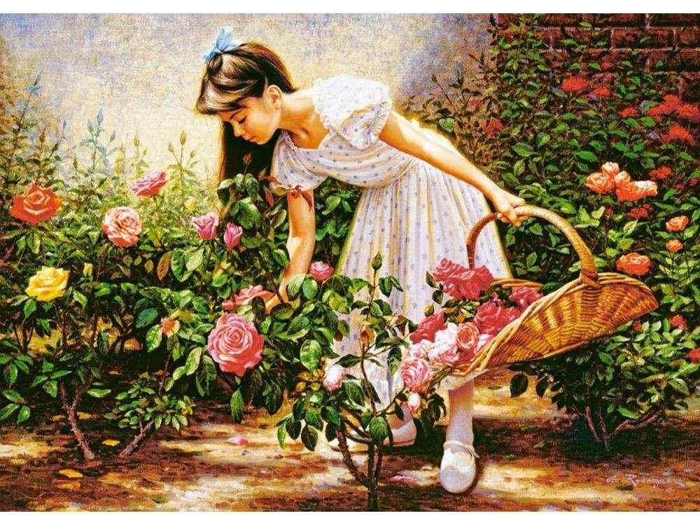 Пазлы «В саду роз» Альфредо РодригесаПазлы от производителя Castorland<br>Пазл - игра-головоломка, мозаика, состоящая из множества фрагментов, различающихся по форме.<br> По мнению психологов, игра в пазлы способствует развитию логического мышления, внимания, воображения и памяти. Пазлы хороши для всех возрастов - и ребенка-дошко...<br><br>Артикул: C103126<br>Размер: 68x47 см