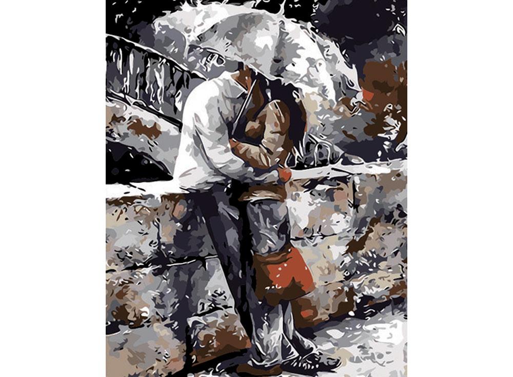 «Романтическая прогулка под дождем» Эмерико ТотаРаскраски по номерам Color Kit<br><br><br>Артикул: CG414<br>Основа: Холст<br>Сложность: средние<br>Размер: 40x50 см<br>Количество цветов: 25<br>Техника рисования: Без смешивания красок