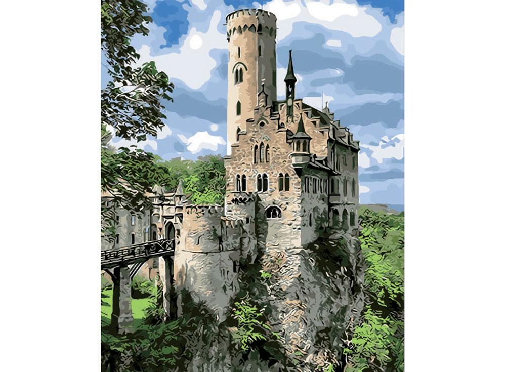 Картина по номерам «Рыцарский замок»Раскраски по номерам Color Kit<br><br><br>Артикул: cg420<br>Основа: Холст<br>Сложность: средние<br>Размер: 40x50 см<br>Количество цветов: 24<br>Техника рисования: Без смешивания красок