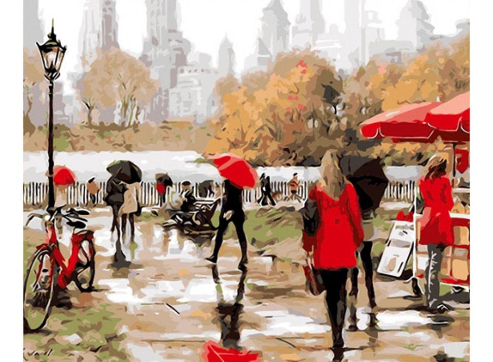 «Центральный парк» Ричарда МакнейлаРаскраски по номерам Color Kit<br><br><br>Артикул: CG426<br>Основа: Холст<br>Сложность: средние<br>Размер: 40x50 см<br>Количество цветов: 25<br>Техника рисования: Без смешивания красок