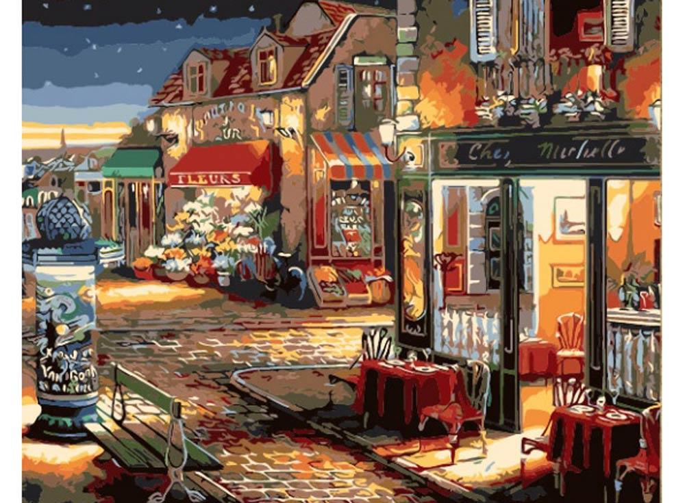 «Звездная ночь» Джона О'БрайенаРаскраски по номерам Color Kit<br><br><br>Артикул: CG428<br>Основа: Холст<br>Сложность: средние<br>Размер: 40x50 см<br>Количество цветов: 25<br>Техника рисования: Без смешивания красок