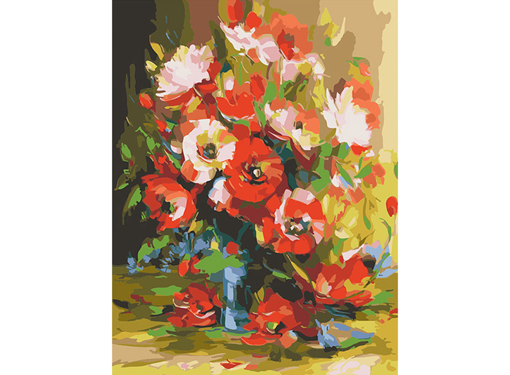 Картина по номерам «Маки в синей вазе» Александра СергееваРаскраски по номерам Color Kit<br><br>