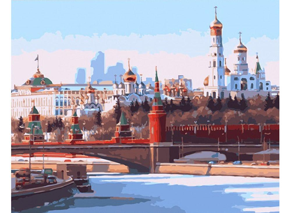 «Панорама Москвы»Раскраски по номерам Color Kit<br><br><br>Артикул: CG648<br>Основа: Холст<br>Сложность: средние<br>Размер: 40x50 см<br>Количество цветов: 28<br>Техника рисования: Без смешивания красок