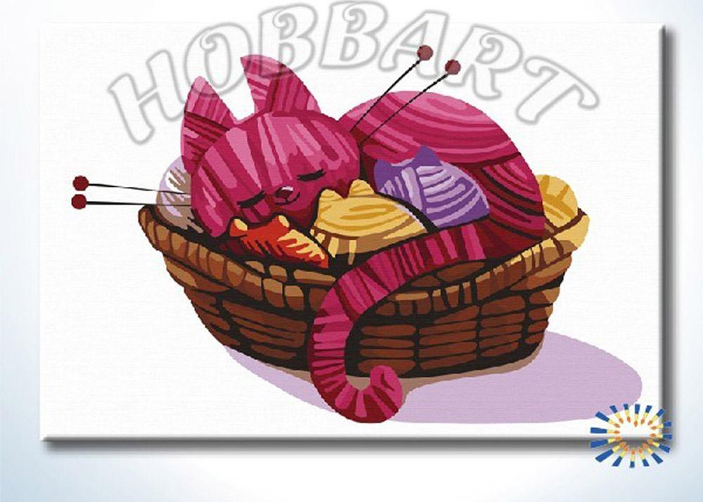 «Клубочки»Hobbart<br><br><br>Артикул: DZ2030002<br>Основа: Холст<br>Сложность: легкие<br>Размер: 20x30 см<br>Количество цветов: 20<br>Техника рисования: Без смешивания красок