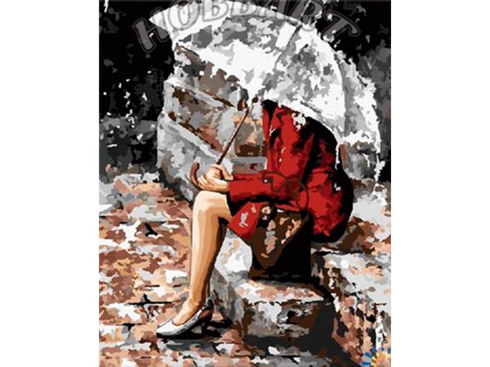 Картина по номерам «Мелодия дождя» Эмерико ТотаHobbart<br><br><br>Артикул: DZ4050023<br>Основа: Холст<br>Сложность: сложные<br>Размер: 40x50 см<br>Количество цветов: 35<br>Техника рисования: Без смешивания красок