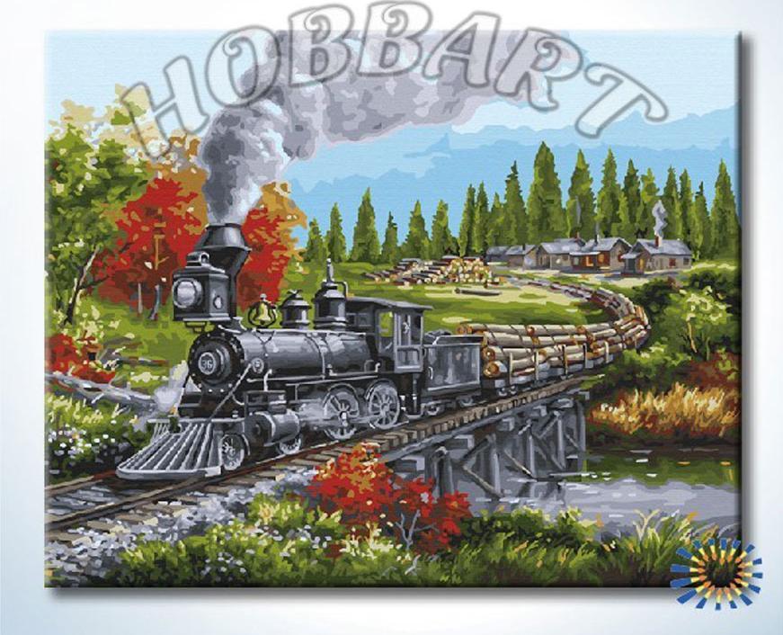 Картина по номерам «На всех парах»Hobbart<br><br><br>Артикул: HB4050375<br>Основа: Холст<br>Сложность: сложные<br>Размер: 40x50 см<br>Количество цветов: 29<br>Техника рисования: Без смешивания красок