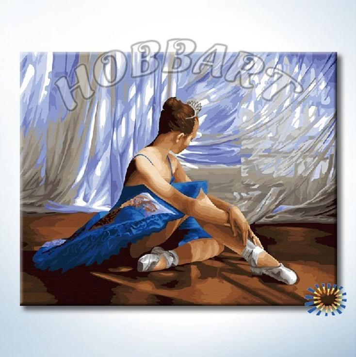 Картина по номерам «Балет»Hobbart<br><br><br>Артикул: HB4050377<br>Основа: Холст<br>Сложность: сложные<br>Размер: 40x50 см<br>Количество цветов: 34<br>Техника рисования: Без смешивания красок