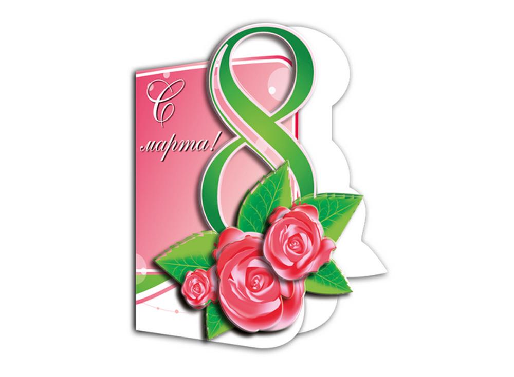 Объемная открытка «Нежные розы»