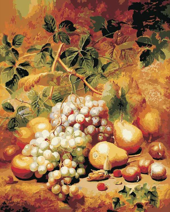«Виноград и груши» Чарльза АрчераPaintboy (Premium)<br><br><br>Артикул: gx7525<br>Основа: Холст<br>Сложность: средние<br>Размер: 40x50<br>Количество цветов: 21<br>Техника рисования: Без смешивания красок